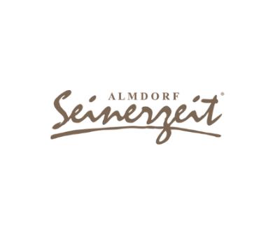 Almdorf Seinerzeit Logo Schrift