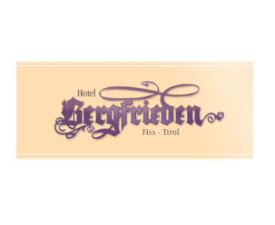 Hotel Bergfrieden., Schrift violett Serifen