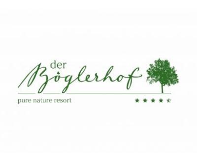 Hotel Böglerhof, Schrift und Logo, grüner Baum