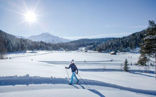 Langläuferin, Hotel Inntalerhof, Winterurlaub mit Hund in Österreich