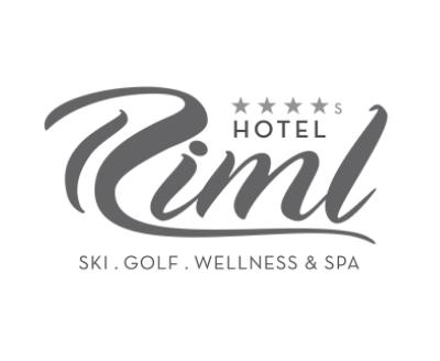 Hotel Riml, Schrift in grau