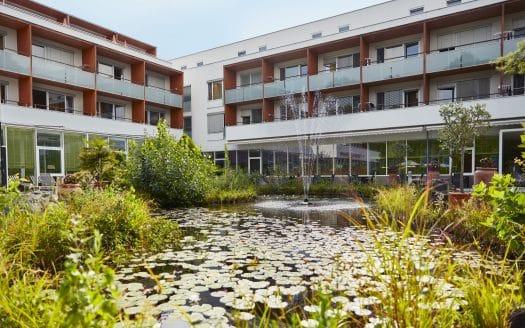 Thermalhotel Fontana****s, romantischer Teich mit Seerosen und Schilf vor dem Hotel. ©Barbara Majcan